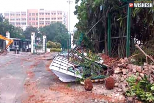 GITAM University Buildings Demolished In Vizag