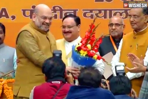 JP Nadda Takes Charge as BJP President