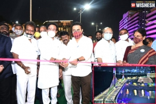 KTR Inaugurates Durgam Cheruvu Cable Bridge