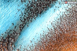 NASA releases the dunes speckle pictures of Mars
