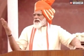 Narendra Modi latest, Independence Day celebrations, narendra modi addresses the nation on 74th independence day, Independence day celebrations