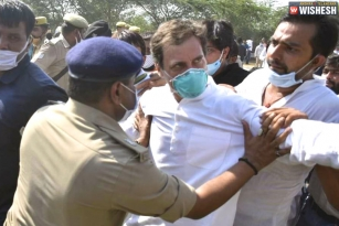 Rahul Gandhi detained when he is on his way to meet Hathras rape victim's family