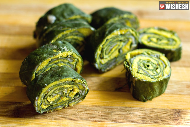 Yummy Food: Crispy Fried Colocasia Leaves Rolls